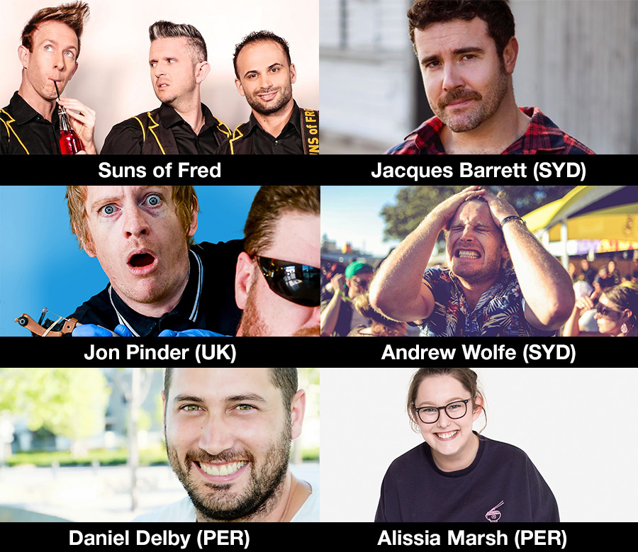 Fremantle BeerFest 2019 live comedy lineup